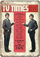 テレビタイムズマガジンは、バーのレトロなブリキの金属記号、勉強、リビングルーム、ダイニングルーム、寝室、カフェ