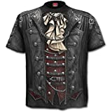 Spiral - Goth Wrap - Camiseta con Estampado Completo - Negro - S
