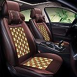 Unbekannt Auto Sitzbezug Auto Sommer Bambus Komfortable Auto Sitzkissen Kissen Atmungsaktiv Bürostuhl Abdeckung