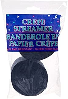 Navy Blue Crepe Paper Streamers (2 Pack), 145 Feet Total, Made in USA