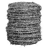 ダイドーハント (DAIDOHANT)  ( 有刺鉄線 ) バーブ [ 鉄 ・ 亜鉛メッキ ] [太さ] #14 2.0 mm x [長さ] 100m 付属品: 又釘 (約60本) 55785