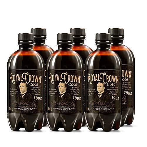 Royal Crown Cola Classic Koffeinhaltiges Erfrischungsgetränk mit Rohzucker (6 x 0,5 Liter)