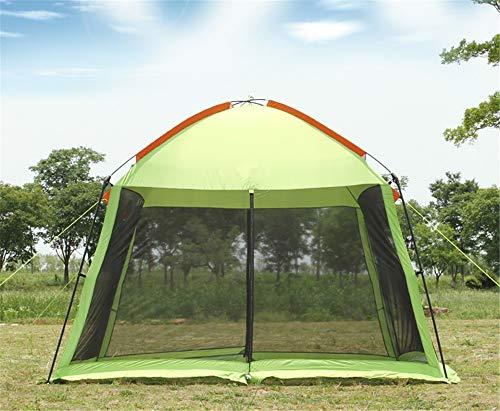 ZXCVBW single layer 5-8person family party gardon beach camping tent gazebo sun shelter pergola mosquito net 2colors,Green