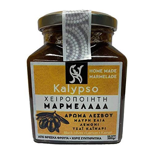 Kalypso Hausgemachte Marmelade mit schwarzen Oliven, Zitrone, Lesvos Kainari Tee 380 g, 2er Pack