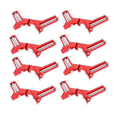 8pcs / Set Gehrungszwingen Winkelspanner Winkelzwinge 90° Eckzwinge Gehrungszwinge Klemme Frameing Werkzeug Rot