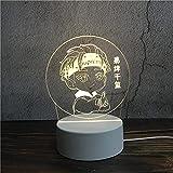 Luz Nocturna ,Lámpara De Ilusión Óptica Led 3D Con Placas Acrílicas De Patrones,Lámpara De Visualización Creativa Usb Regalo Para Niños,Niño Oveja