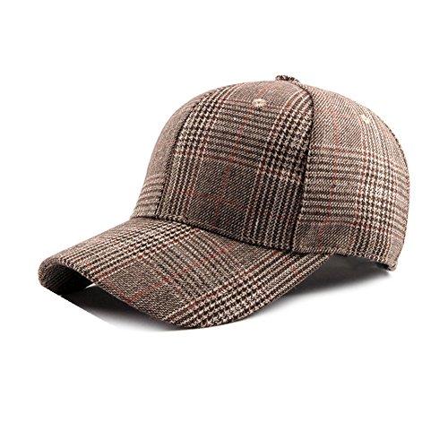 Dosige Sombrero de Cuadros para Mujer,Aire Libre Gorro, Sombrero Ajust