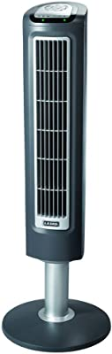 Lasko 2519 3-Speed Wind Tower Fan with Remote Control, 38 Inch, Gray