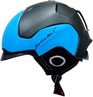 XuBa Snow Helmet Open-Face Helmet with Dual Visor Helmet