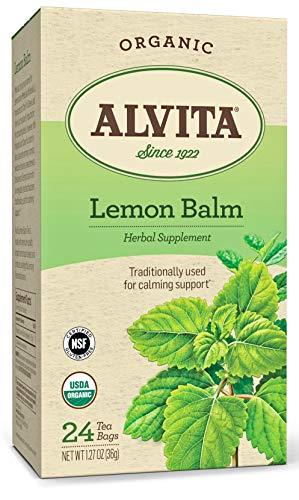Alvita Organic Lemon Balm Herbal Tea - Made with Premium Quality Organic Lemon Balm Leaves, And Produces A Delightful Lemony Flavor and Aroma, 24 Tea Bags
