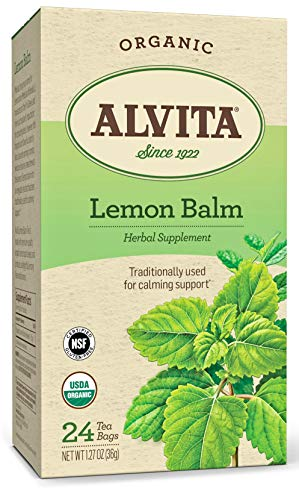 Alvita Organic Lemon Balm Herbal Tea - Made with Premium Quality Organic Lemon Balm Leaves, And...