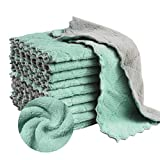 Auseibeely 16 Packs Kitchen Cloths Dish Towels, Microfiber Cleaning Cloth, Coral Velvet Dish Cloths, Strong Absorbent Dish Rags, Nonstick Oil Kitchen Washcloths