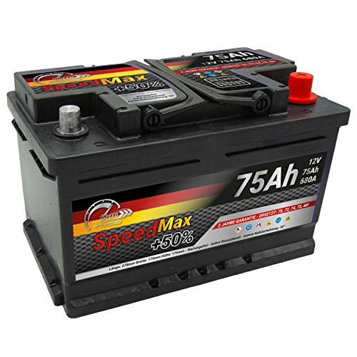 Batteria auto SPEED MAX 75Ah 680A 12V L3B