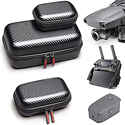 STARTRC Carrying Case for DJI Mavic 2 Pro, Zoom, Foldable Drone Body and Remote Controller Battery Bag Accessory (3 Pack)