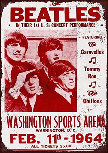 The Beatles Blechschild, 25,4 x 20,3 cm, Retro-Konzertposter, Wanddekoration, Bild