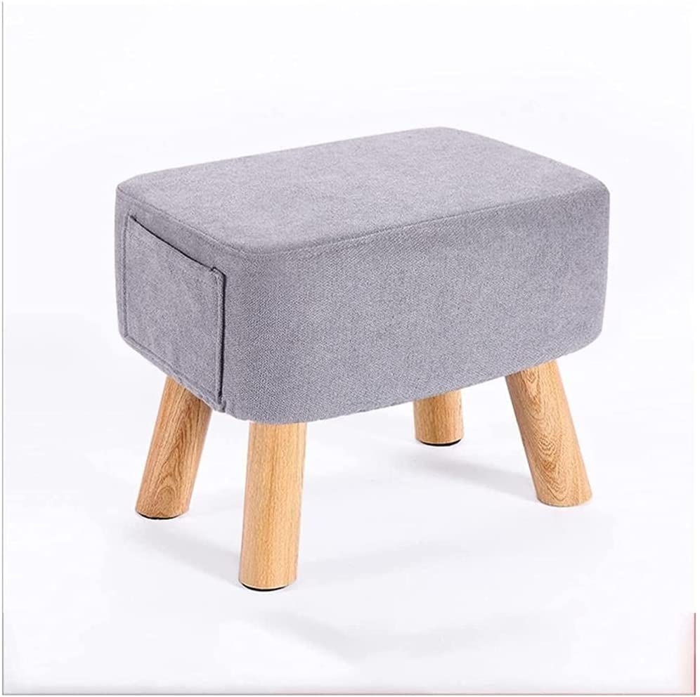 Max 60% OFF Pouffe Ottoman Las Vegas Mall Solid Wood Footstool Shoe Changing Stool Low Sofa