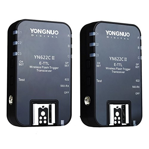 YONGNUO YN-622C II YN 622II 1/8000 E-TTL Funkauslöser Blitzauslöser Auslöser für Canon Kamera mit NAMVO Diffusor
