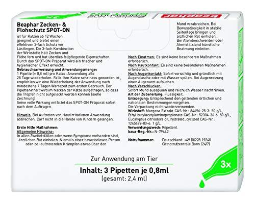Beaphar Zecken- und Flohschutz Spot-On 3 x 0.8 ml - 2