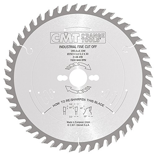 CMT Orange Tools 285,048,10 m scie circulaire 250 x 30 x 3,2 z 48 atb silencieux