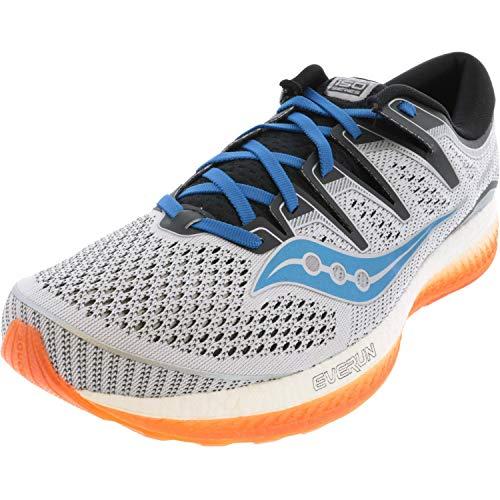 Saucony Men's S20462-3 Triumph ISO 5 Running Shoe, White | Black | Orange - 8 M US