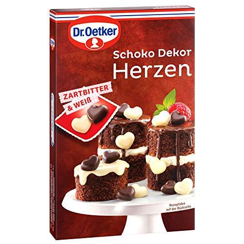 Dr. Oetker Schoko Dekor Herzen Zartbitter & Weiß (1 x 47 g)