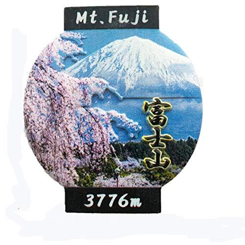 3D-Laternenform Mount Fuji Japan Kühlschrankmagnet, Souvenir, Geschenkkollektion, Heim- und Küchendekoration, magnetischer Aufkleber, Tokio, Japan Kühlschrankmagnet