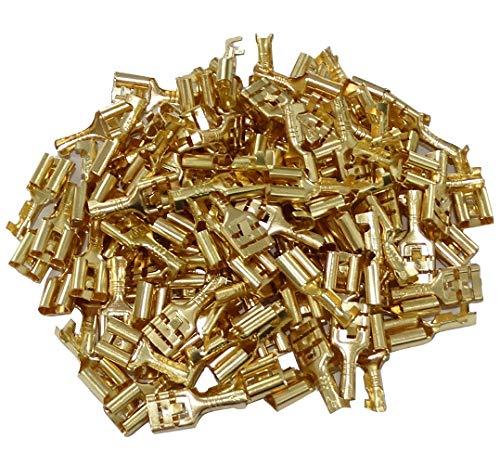 Aerzetix kabelschoenen, plat, 6,3 mm, 1-2,5 mm2, met clip C41300