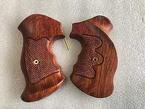 New Taurus Medium/Large Frame Revolver Grips .357 6 Shot Checkered Hardwood Handmade #TNW05