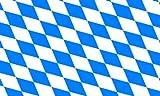 Flaggenking Flagge/Fahne, Landesflagge Freistaat Bayern, mehrfarbig, 150x90x1 cm, 16356