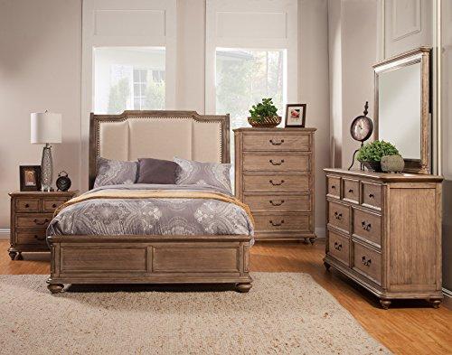 Alpine Furniture 5 Piece Melbourne Bedroom Set, King Size
