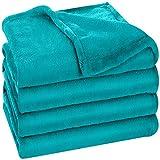 Utopia Bedding Fleece Blanket King Size Turquoise 300GSM Luxury Bed Blanket Anti-Static Fuzzy Soft Blanket Microfiber