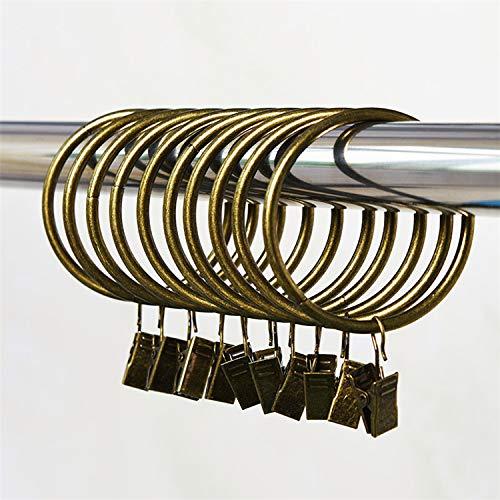 Marwotec Verbindungselemente 100 STK. 25mm Farbe Altmessing Durchmesser Mehrzweck Vorhang Clip Gardinenstange Gardinenringe Vorhangringe mit Clips