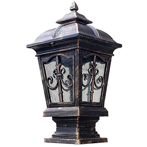 Candelabro,velas candelabro Columna de bronce antiguo paisaje de jardín de aluminio Terraza Garaje lámpara de calle del césped antorcha lámpara 49cm valla de seguridad Columna Columna cabeza de la lum