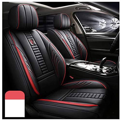 Fundas de asiento de coche personalizadas para BMW X3 E83 2002-2020, impermeable, juego completo de funda de cojín de piel sintética, color rojo