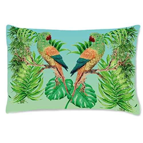 Coussin rectangulaire perroquets by Cbkreation