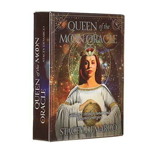 NIULLA Tarot Queen of The Moon Tarjeta De Juego De Mesa De Baraja De Cartas Oracle, Utilizada para Entretenimiento De Juegos De Mesa De Cartas