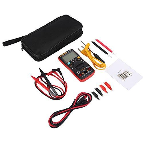 ANENG AN8009 - Multimetro Digitale Automatico 9999 Conteggio Vero RMS AC DC Tensione HFE (Rosso)