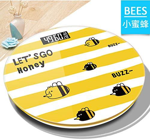 sufengshop USB-Ladeskala Menschliche Gesundheit Tragbare Haushaltswaage Nachtsicht-Cartoon Elektronische Waage Bienen