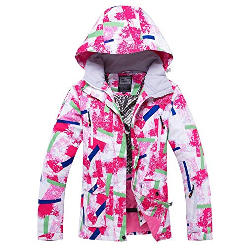 Unbekannt Dingziyue Damen Skijacke Snowboard-Jacke windundurchlässiger wasserdichter super Warmer Kleidung Winter Ski Mantel Weiblich Outdoor Sport Wear (Color, Size : S)