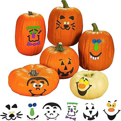Halloween Pumpkin Decorating Kit Patch Shaped Sticker, 50pcs