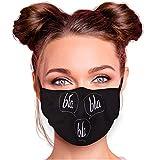 Alsino Alltagsmaske Stoffmaske Motiv Mund- Nasenschutz einstellbare Ohrbügel Waschbar Herren Damen Verschiedene Designs (bla bla bla)
