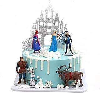 TOPTAMP Frozen Cake Topper کلکسیونی مدل Elsa Snow Princess 6 قطعه اکشن فیگور