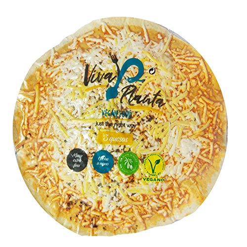 Viva Planta Pizza de Tres Quesos Vegano con Sheese 100% sin lácteos queso 310g (Pack de 5)