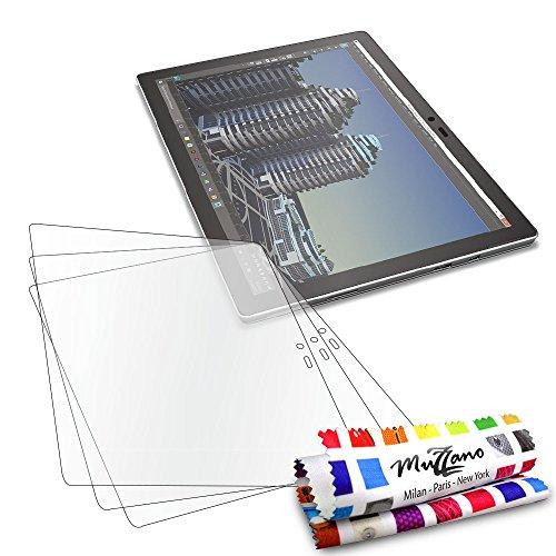 Protektoren Bildschirm für Microsoft Surface Pro 4, 3Displayschutzfolien [UltraClear] [transparent] + Eingabestift und Reinigungstuch Muzzano® angeboten–Der Schutz Display Ultimative und nachhaltige für Ihr Microsoft Surface Pro 4
