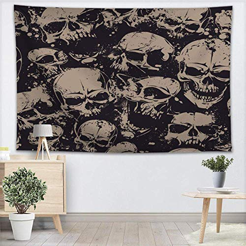 AOOEDM Skull Tapestry Wall Hanging Gothic Halloween Party Decor Tapestry Show Piece for Home Decoration Camping Tent Travel-150x200cm