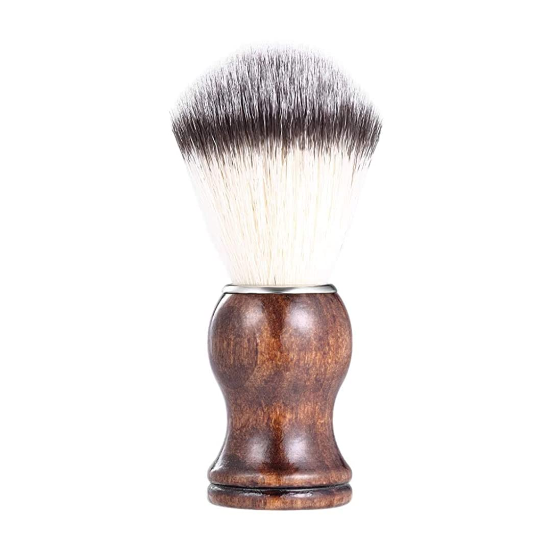 綺麗な遵守する余剰あごひげケア 美容ツール メンズ用 髭剃り ブラシ シェービングブラシ 木製ハンドル 男性 ギフト理容 洗顔 髭剃り