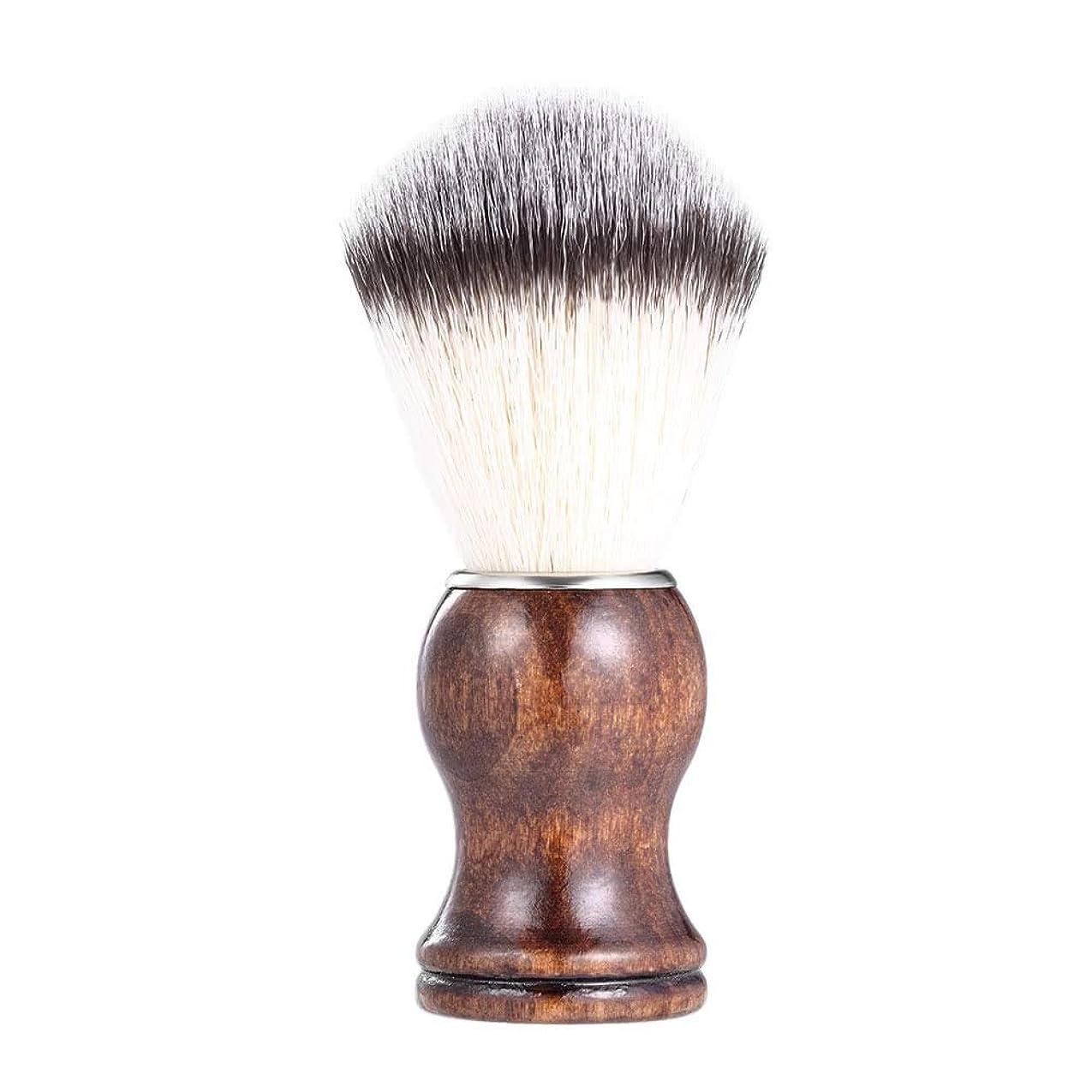 迅速サイズ使い込むあごひげケア 美容ツール メンズ用 髭剃り ブラシ シェービングブラシ 木製ハンドル 男性 ギフト理容 洗顔 髭剃り
