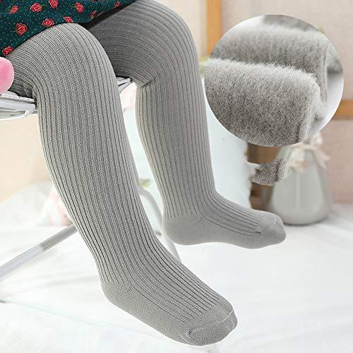 SanQing LOVE Les Filles d'hiver Doux Pantalons Collant Tight Knit bébé Leggings Couleur Chaude Chaussettes Longues pour Nourrissons Chaussettes Enfant en Bas âge Convient pour 0-10 Ans Filles,Gris,XL