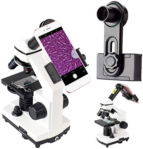 2019 New Version Microscope Lens Adapter, Microscope Smartphone Camera Adaptor - for Microscope Eyepiece Diameter 23.2mm, Built-in WF 10mm Eyepiece -Capture and Record The Beauty in The Micro World