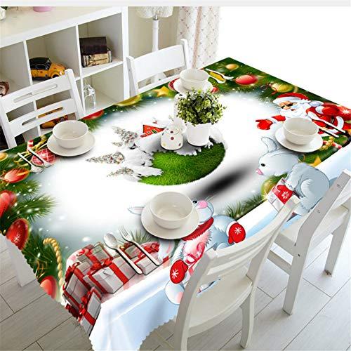 Shuangklei Ano Navidad Mantel Cocina Comedor Decoraciones para La Mesa Fiesta En Casa Cubiertas De Mesa Adornos De Navidad-140X200Cm